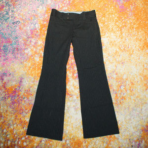 Banana Republic Sloan Fit Black Pinstripe Pants 4